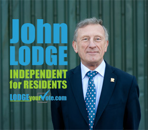 John Lodge || Independent for Residents || WeAreResidents.org || 2 May 2013, Essex County Council Elections, Saffron Walden Division Ward