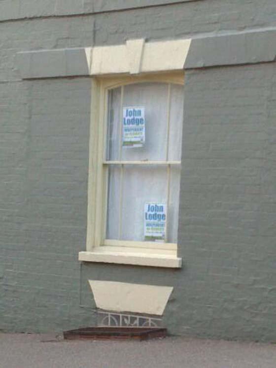 Vote John Lodge poster in Saffron Walden