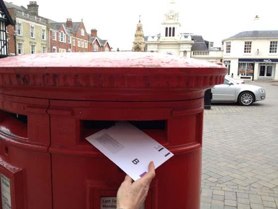 Postal vote for John Lodge