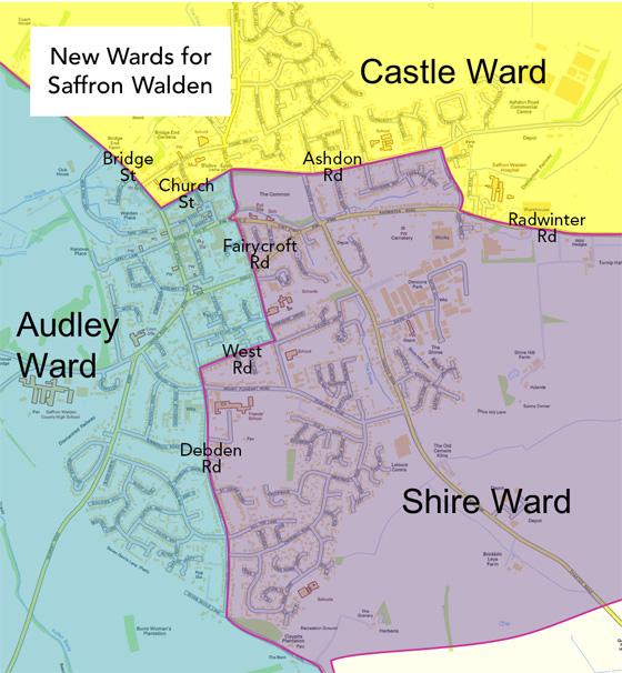 2015 Saffron Walden Ward Map