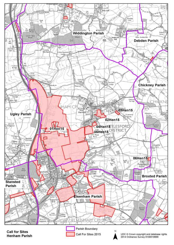 Elsenham & Henham Possible Local Plan Sites