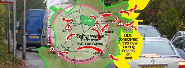 Banner: Traffic and Saffron Walden AQMA
